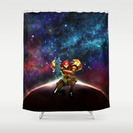 Metroid Samus Returns Shower Curtain