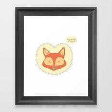 Mr. Foxy Framed Art Print