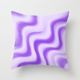Crimped Violet Throw Pillow