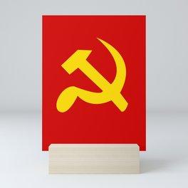 Soviet Union Hammer and Sickle Communist flag. Mini Art Print