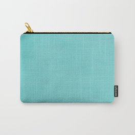 Hand Painted Tiffany Aqua Blue Carry-All Pouch