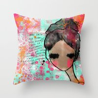 keep calm Throw Pillows featuring keep calm by SannArt