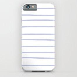 Illuminated Violet - Twilight Mist - Carousel Purple Hand Drawn Horizontal Lines on White iPhone Case