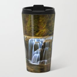 Lower Lewis River Falls in Autumn Travel Mug