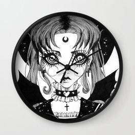 Sailor Goth Moon Wall Clock