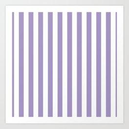 Lavender Small Even Stripes Art Print