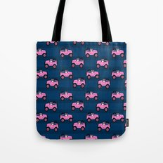 Corgi pink jeeps welsh corgi pattern print dog lover gifts Tote Bag