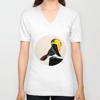 coco V-neck T-shirts featuring Coco by Nicholas Darby