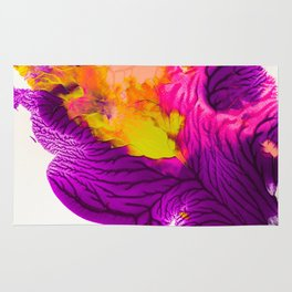 Purple Pink And Chartreuse Abstract Rug