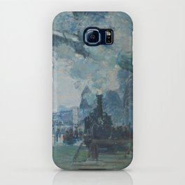 Claude Monet - Arrival of the Normandy Train iPhone Case