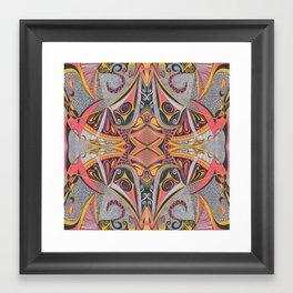 Chambers of Doom 1 Symmetrical design Framed Art Print