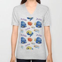 Fish Pattern 03 Unisex V-Neck