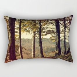 Forest in the colors of autumn. Rectangular Pillow