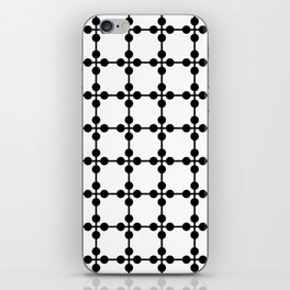 Droplets Pattern - White & Black iPhone Skin