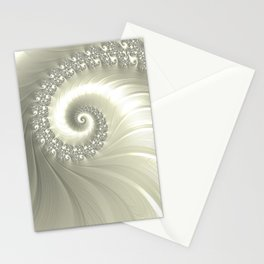 Pearly Fractal Swirl Stationery Cards