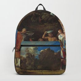 The Feast of the Gods Painting by Giovanni Bellini and Titian Backpack