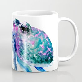 Octopus, Turquoise Green Purple Pink Octopus Design Coffee Mug