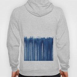 Indigo Abstract Brush Strokes | No. 5 Hoody