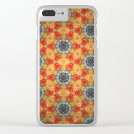 Orange Blossom and Blue Jeans Clear iPhone Case