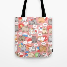 Meows Around The World Tote Bag
