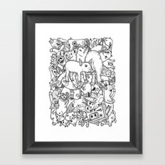 counting pigs Framed Art Print