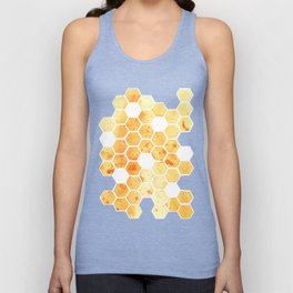 Golden Honeycomb Unisex Tank Top