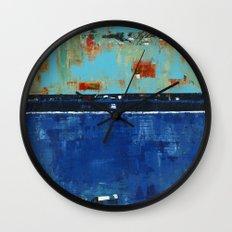 Dress Blues Blue Abstract Landscape Modern Wall Clock