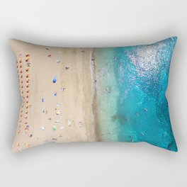 AERIAL. Summer beach Rectangular Pillow