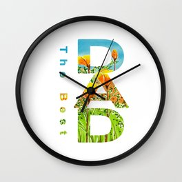 Gift for the best dad Wall Clock