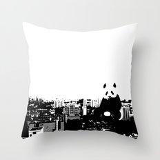 Giant Panda Invades Toa Payoh. Throw Pillow