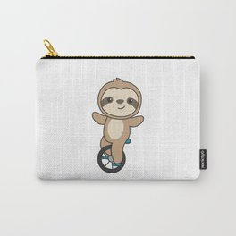 Unicycle Sloth Unicyclist Sloths Circus Carry-All Pouch