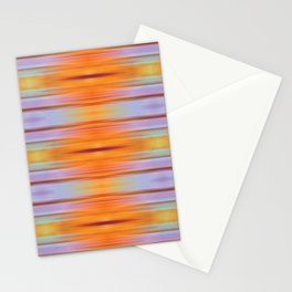 Orange ikat Stationery Cards