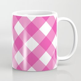Pink & White Checkered Pattern-Mix and Match with Simplicity of Life Coffee Mug