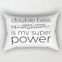 Double bass is my super power (white) Rectangular Pillow