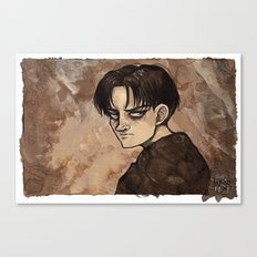 Coffee Painting - Levi Canvas Print