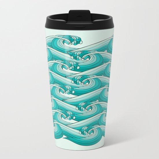 Ocean Vibes Metal Travel Mug