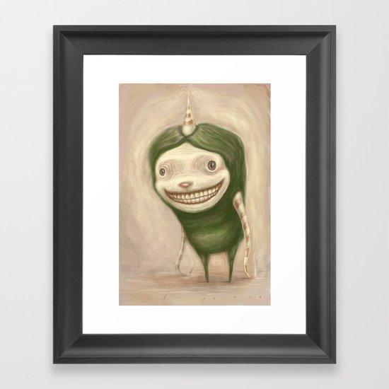 Smile No Matter What Framed Art Print