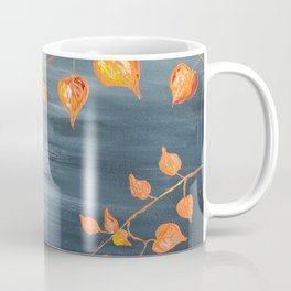 Chinese lanterns, leaves, illustration, floral, plants, botanical Coffee Mug
