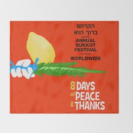 Sukkot Poster Throw Blanket