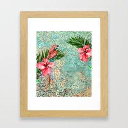 Tropical Map Framed Art Print