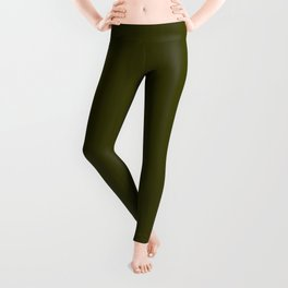 Dark olive textured striped. Leggings