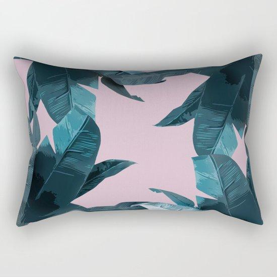 Tropical Palm Print #2 Rectangular Pillow