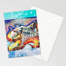 Moonbeam octopus Stationery Cards