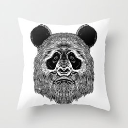 Bigfoot Panda Throw Pillow