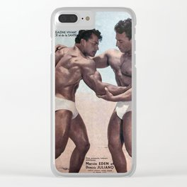 Muscles Magazine Clear iPhone Case