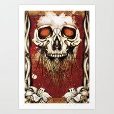 Skullprint Art Print