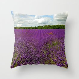Lavender Landscape (Version 1)  Throw Pillow