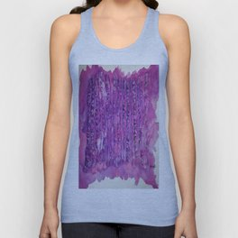 Deep Purple Abstract Aspen Tree Watercolor Painting Unisex Tank Top