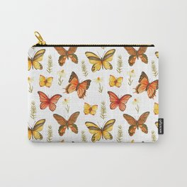Butterfly Totem White Background Carry-All Pouch