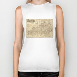 Llyod's Official Map of the State of Kentucky (circa 1862) Biker Tank